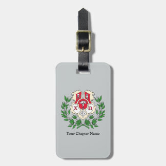 Chi Omega Crest Luggage Tag
