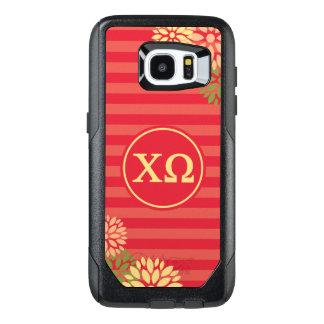 Chi Omega   Monogram Stripe Pattern OtterBox Samsung Galaxy S7 Edge Case