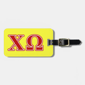 Chi Omega Red Letters Luggage Tag