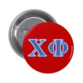 Chi Phi Blue Letters 6 Cm Round Badge