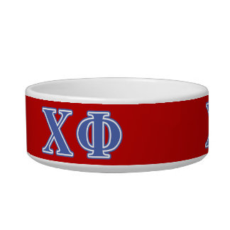 Chi Phi Blue Letters Bowl