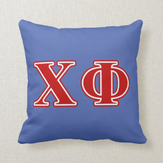 Chi Phi Red Letters Cushion
