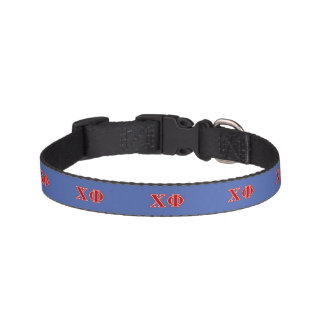 Chi Phi Red Letters Pet Collar