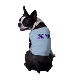 Chi Psi Purple Letters Sleeveless Dog Shirt
