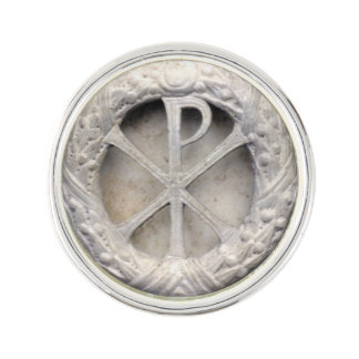 Chi Rho Monogram Lapel Pin