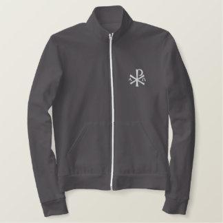 Chi Rho Zip Fleece Embroidered Jacket