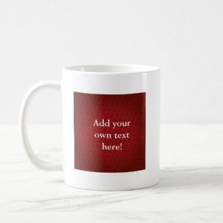 Chi Ro pattern in Red Basic White Mug