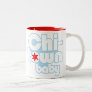 Chi-town baby, Chicago, Illinois Two-Tone Coffee Mug
