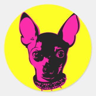 Chi-Warhol Round Sticker
