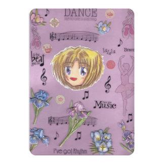 "Chibi Ayame Dancing Iris Flower Invitation cards 5"" X 7"" Invitation Card"