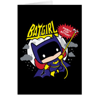 Chibi Batgirl Ready For Action Card
