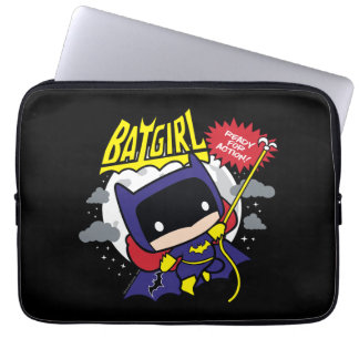 Chibi Batgirl Ready For Action Computer Sleeve