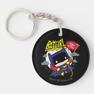 Chibi Batgirl Ready For Action Double-Sided Round Acrylic Key Ring