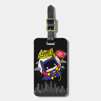 Chibi Batgirl Ready For Action Luggage Tag