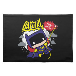 Chibi Batgirl Ready For Action Placemats