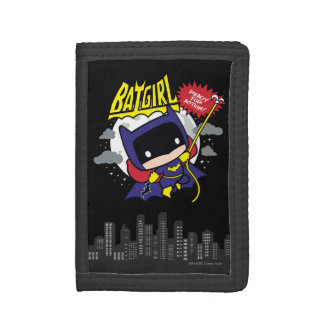 Chibi Batgirl Ready For Action Trifold Wallet