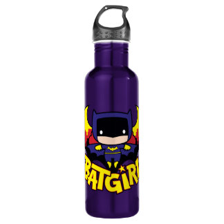 Chibi Batgirl With Gotham Skyline & Logo 710 Ml Water Bottle