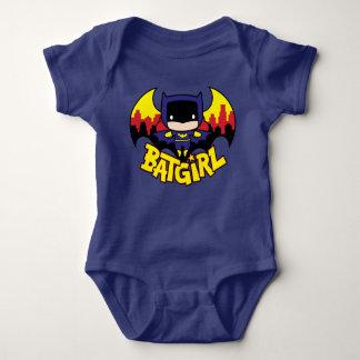 Chibi Batgirl With Gotham Skyline & Logo Baby Bodysuit