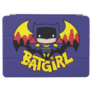Chibi Batgirl With Gotham Skyline & Logo iPad Air Cover