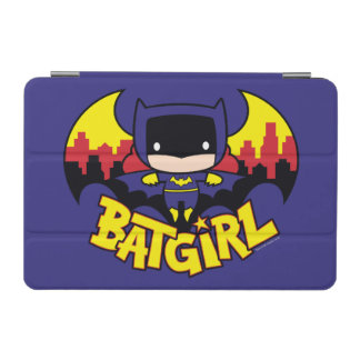 Chibi Batgirl With Gotham Skyline & Logo iPad Mini Cover