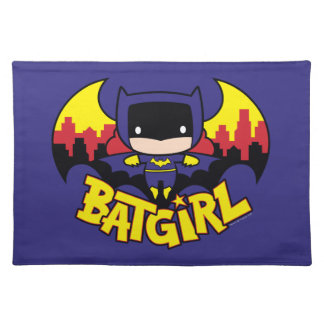 Chibi Batgirl With Gotham Skyline & Logo Placemat