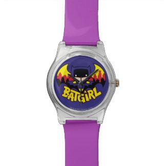 Chibi Batgirl With Gotham Skyline & Logo Watch