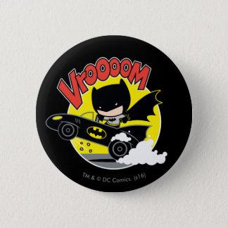 Chibi Batman In The Batmobile 6 Cm Round Badge