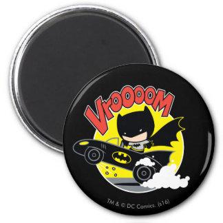 Chibi Batman In The Batmobile Magnet