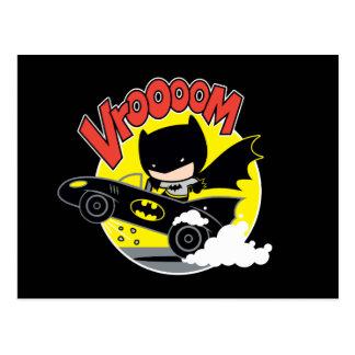 Chibi Batman In The Batmobile Postcard