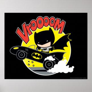 Chibi Batman In The Batmobile Poster