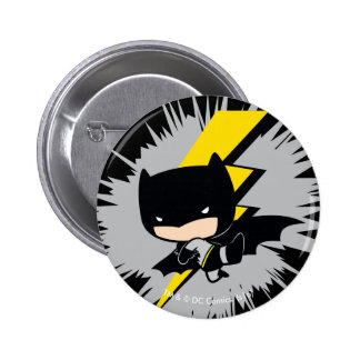 Chibi Batman Lightning Kick 6 Cm Round Badge