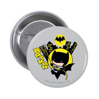 Chibi Batman Scaling The City 6 Cm Round Badge
