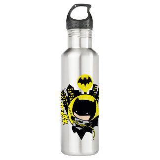 Chibi Batman Scaling The City 710 Ml Water Bottle