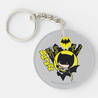 Chibi Batman Scaling The City Key Ring