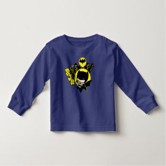 Chibi Batman Scaling The City Toddler T-Shirt
