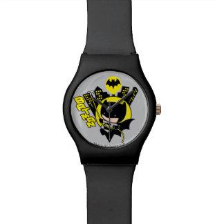 Chibi Batman Scaling The City Wrist Watch