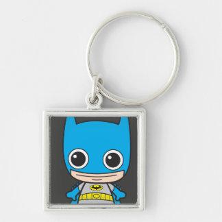 Chibi Batman Silver-Colored Square Key Ring