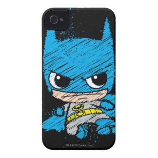 Chibi Batman Sketch iPhone 4 Cases