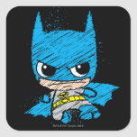 Chibi Batman Sketch Square Stickers