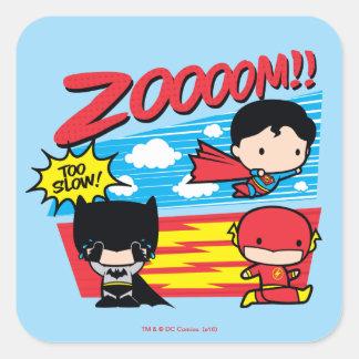 Chibi Batman Too Slow! Square Sticker
