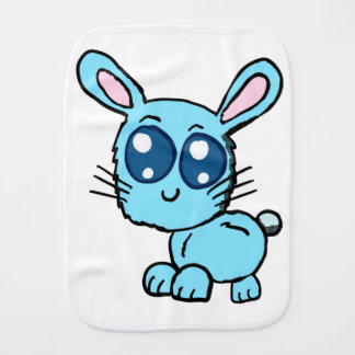 Chibi Blue Bunny Baby Shirt Burp Cloth