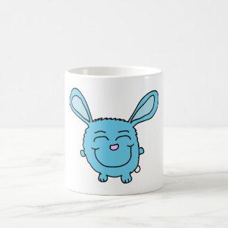 Chibi Blue Bunny Basic White Mug
