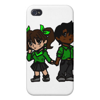 Chibi Boy and Girl Cover For iPhone 4
