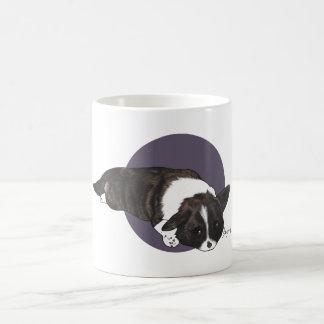 Chibi Brindle Cardigan Corgi Coffee Mug