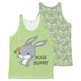 Chibi BUGS BUNNY™ With Carrot All-Over Print Singlet