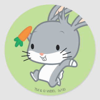 Chibi BUGS BUNNY™ With Carrot Classic Round Sticker