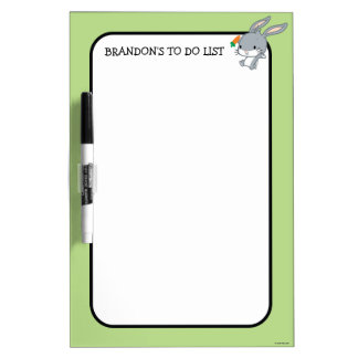 Chibi BUGS BUNNY™ With Carrot Dry Erase Board