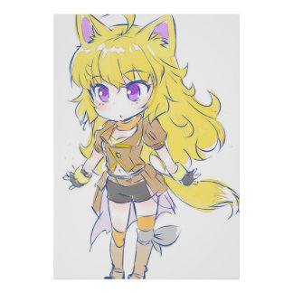 Chibi Cat Ears Yang Xiao Long Poster