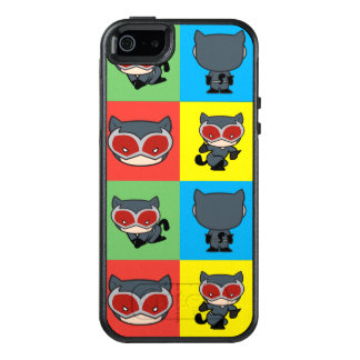 Chibi Catwoman Character Poses OtterBox iPhone 5/5s/SE Case