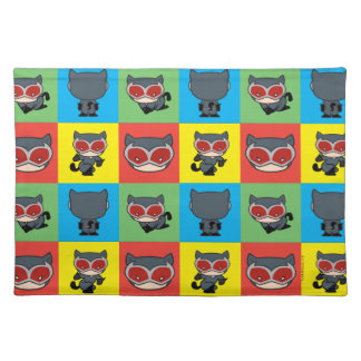 Chibi Catwoman Character Poses Placemat